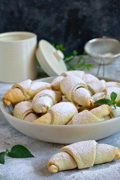 Rogaliki z 3 składników – Smaki na talerzu Pretzel Bites, Bread, Food, Brot, Essen, Baking, Meals, Breads, Buns