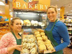 Blueberry scones; raspberry muffins
