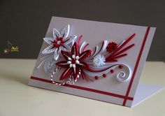 Neli is a talented quilling artist from Bulgaria. Her unique quilling cards bring joy to people around the world. Neli Quilling, Paper Quilling Flowers, Quilling Paper Craft, Quilling Flower Designs, Quilling Patterns, Quilling Christmas, Christmas Paper Crafts, Quilling Techniques, Flower Cards