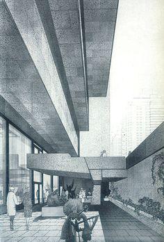 Whitney Museum of American Art, New York, 1963-68    (Marcel Breuer and Associates)