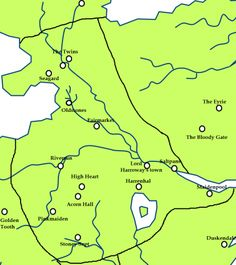 The riverlands and the location of Raventree Hall