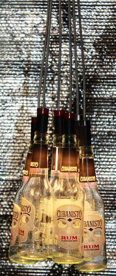 Cubanisto beer bottles chandelier: Lighting fixtures by Beer Bottle Chandelier, Rum, Havana Nights Theme, Chandelier Lighting Fixtures, Beer Bar, Amazing Gardens, Decoration, Coffee Shop, Beer Bottles