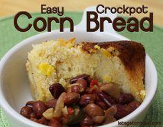 Super easy crockpot cornbread (and very yummy too!)