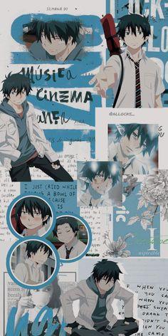 Anime Backgrounds Wallpapers, Anime Wallpaper Phone, Cartoon Wallpaper, Animes Wallpapers, Cute Wallpapers, Rin Okumura, Blue Anime, Anime Love, Otaku Anime