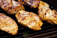 Yogurt-Marinated Grilled Chicken - Epicurious - This marinade is very tasty and perfect for grilling chicken breast. Be sure not to skip the pounding part (like I did) to avoid the thinner tips from drying out. Grilled Chicken Breast Recipes, Marinated Grilled Chicken, Chicken Recipes, Recipe Chicken, Chicken Ideas, Grilled Meat, Healthy Grilling, Grilling Recipes, Cooking Recipes