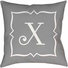Thumbprintz Silver Script II Monogram Decorative Pillows