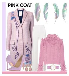 """Pretty Pink Coat"" by aharcaki on Polyvore featuring Roksanda, Roland Mouret, Ciner, Ivanka Trump, Gucci and Abbott Lyon"