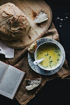 soup, bread and good reading    Beth Kirby