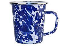 S/4 Latte Mugs, Cobalt Swirl From the Home Decor Discovery Community At www.DecoAndBloom.com