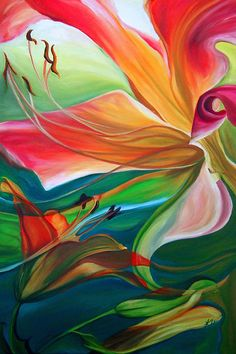 Purchase canvas prints from Karen Hurst. All Karen Hurst canvas prints are ready to ship within 3 - 4 business days and include a money-back guarantee. Tropical Art, Tropical Paintings, Arte Pop, Abstract Flowers, Flower Art, Painting & Drawing, Amazing Art, Fine Art America, Watercolor Paintings