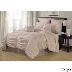Lacozee Classical Ruched 8-piece Comforter Set | Overstock.com Shopping - Great Deals on Comforter Sets