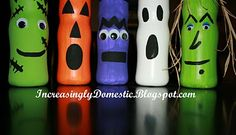 Cute kid Halloween project? Could use with other bottles or Pringles can?