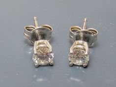 SALE Diamond Earrings 14K White Gold 0.46 Total by EstateGems