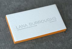 Love the painted edge business cards