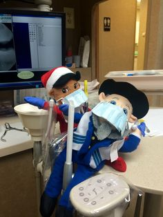 """""""Put me in coach, I'm ready to play, TODAY!""""  Gloved up and ready to get in on the action, just waiting for Dr. Peck to say the word. #menschonabench #elfonashelf"""