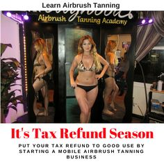Learn the Art & Business of Airbrush Tanning Best Tanning Lotion, Tanning Tips, Becoming An Esthetician, Airbrush Tanning, Tax Refund, Texting, Business Management, Cosmetology, Your Skin