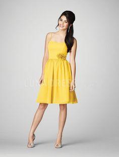 Knee Length Natural Waist Bridesmaids Dress