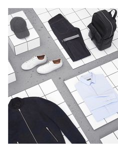 BFC & GQ London Collections Men // COMMERCIAL - Sarah Parker Creative, fashion design for men Still Photography, Flat Lay Photography, Clothing Photography, Fashion Photography, Product Photography, Gq, Flat Lay Inspiration, Fashion Still Life, Still Life Photographers