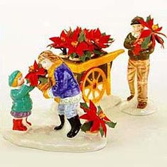 """Department Products - """"Poinsettias For Sale"""" - View Accessories Department 56 Christmas Village, Dept 56 Snow Village, Ceramic Houses, Christmas Villages, Poinsettia, Snow Globes, Rooster, Xmas, Ceramics"""