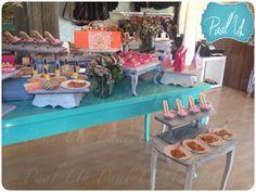 Paal Uh. Mesa de Postres : Snack's : dulces : botanas : candy bar : Sweet   :  dessert table : decor : celebración : fashion store : idea : cute : aniversary aniversario boutique :