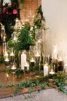 Tropical Chic Miami Wedding by Elaine Palladino – Southern Weddings – Floating Candles İdeas. Miami Wedding, Chic Wedding, Floral Wedding, Rustic Wedding, Wedding Flowers, Dream Wedding, Wedding Greenery, Wedding Colours, Protea Wedding