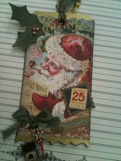 Vintage Christmas Chipboard Tags 6a of 8 by sableangel - Cards and Paper Crafts at Splitcoaststampers