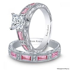 This would be my perfect ring!! pretty pink engagement ring - My Engagement Ring
