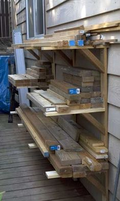 Wood Storage Shed Plans Lumber Rack Trendy Ideas