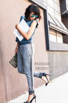 FASHION FRIDAY..denim, sweats and short hair.