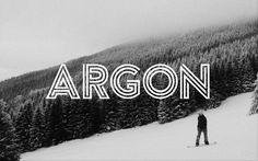 Argon Font / Paid font $8 / #modern #border