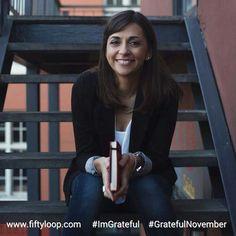 Grateful November by Fiftyloop Marissa Visser sitting on stairs