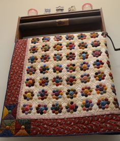 Sew'n Wild Oaks Quilting Blog: The Yo-Yo Quilt is Done!