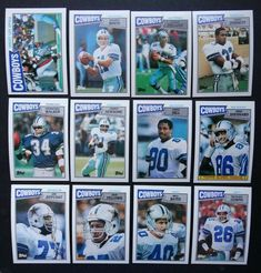 1987 Topps Dallas Cowboys Team Set of 12 Football Cards #DallasCowboys