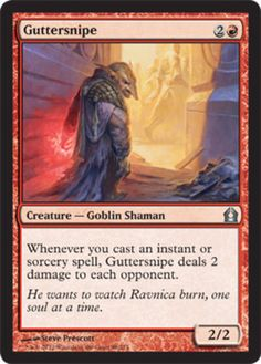 Guttersnipe mtg Magic the Gathering Return to Ravnica red uncommon goblin card