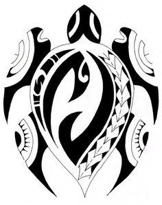 Polynesian Tribal Turtle Tattoo Designs