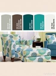 Image result for lounge room accent chair with ottoman teal lazyboy