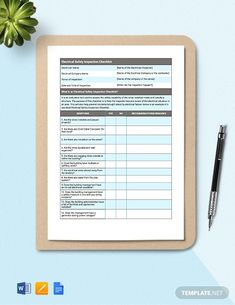 Instantly Download Electrical Safety Inspection Checklist Template, Sample & Example in Microsoft Word (DOC), Google Docs, Apple (MAC) Pages Format. Available in A4 & US Letter Sizes. Quickly Customize. Easily Editable & Printable. Electrical Inspection, Safety Inspection, Electrical Safety, Checklist Template, Electrical Components, Google Docs, Apple Mac, Word Doc, Microsoft Word