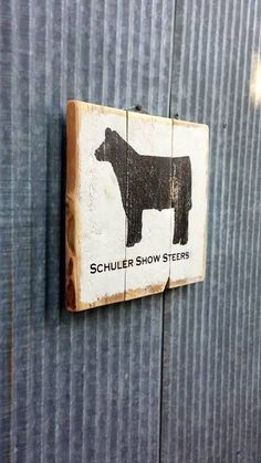 Show Steer | Livestock Rustic Gift Pallet | Reclaimed Wood Custom Wall Hanging | Pallet Sign | Wedding Gift | Farm Gifts