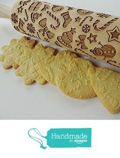 CHRISTMAS GIFTS Rolling pin. Embossing rolling pin with Christmas symbols. Christmas gingerbread cookies. from Sun Crafts https://www.amazon.com/dp/B01KS1I0KC/ref=hnd_sw_r_pi_awdo_jN9fybZCGCA6J #handmadeatamazon