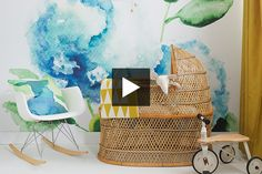 Check out this wonderful video by House & Home featuring one of our floral watercolor mural!