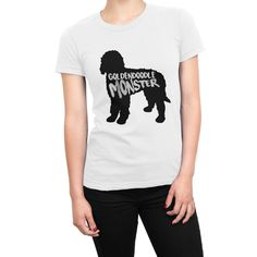 Goldendoodle Monster - Short Sleeve Women's T-Shirt