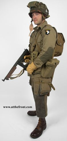 Complete US Paratrooper Package for Easy Company, PIR, Airborne Division as seen in Band of Brothers. Military Gear, Military History, Joining The Military, 101st Airborne Division, Ww2 Uniforms, Band Of Brothers, Army Uniform, Paratrooper, United States Army