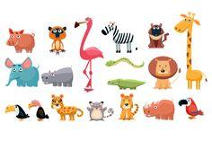 African Animals Fun Cartoon by TopVectors on Creative Market