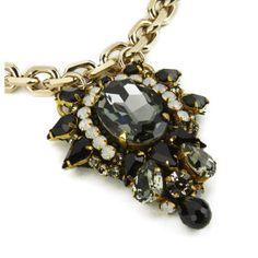 Matthew Williamson Opulent Jewel Chain Necklace - Black: Image 11