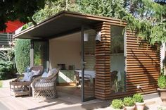 Pergola Ideas For Patio Key: 7625170268 Outdoor Sheds, Outdoor Rooms, Outdoor Gardens, Outdoor Living, Outdoor Decor, Garden Studio, Shed Homes, Building A Shed, Shed Plans
