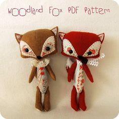 Woodland fox sewn toys - so cute!