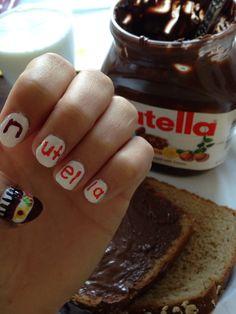 #nutella nail art  #tumblr #nutellanails #nailart