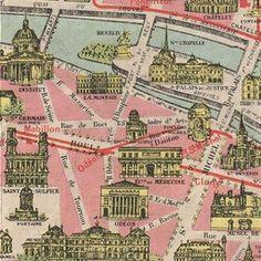 Map of Paris 1920 | Old Maps of Paris