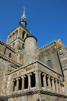 Abbey of Mont Saint-Michel - Europe Mont Saint Michel France, Le Mont St Michel, India Travel, France Travel, Travel Around The World, Around The Worlds, Region Normandie, Roman Church, Old Abandoned Buildings