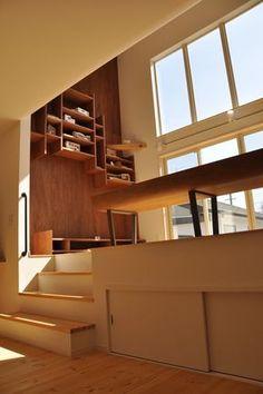 オープンハウス/ DDD – 名古屋市の住宅設計事務所 フィールド平野一級建築士事務所 Home Design Diy, House Design, Interior Architecture, Interior And Exterior, Small Loft Apartments, Future House, Contemporary Interior Design, Japanese House, Small House Plans